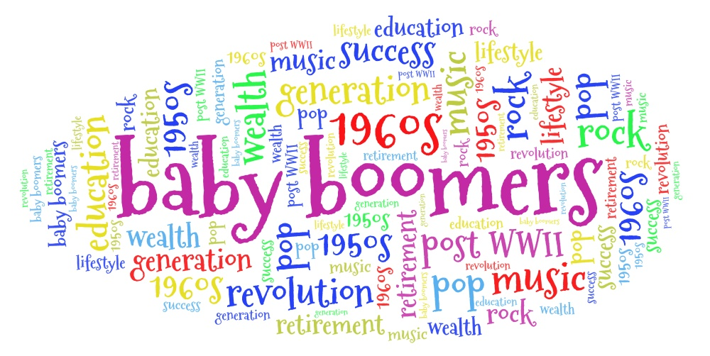 Word Cloud: The Baby Boomers